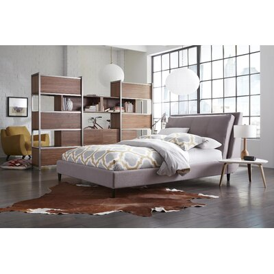 Rodger Upholstered Panel Bed Size: Queen, Color: Light Gray