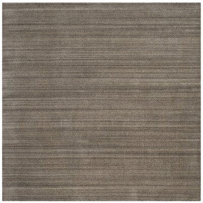 Anson Hand-Loomed Pewter Area Rug Rug Size: Square 6 x 6