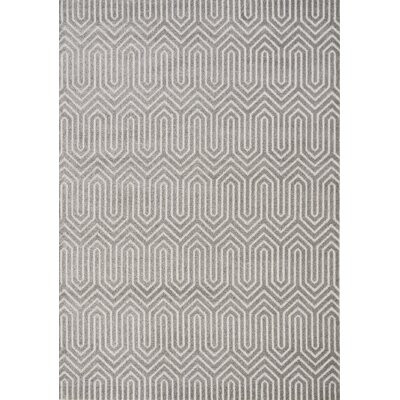 Vincent Maze Pattern Gray Area Rug Rug Size: 53 x 77