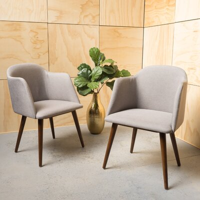 Bertaux Fabric Arm Chair Upholstery: Dark Beige
