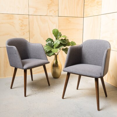 Bertaux Fabric Arm Chair Upholstery: Charcoal