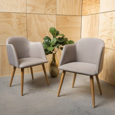 Bertaux Fabric Arm Chair Upholstery: Beige