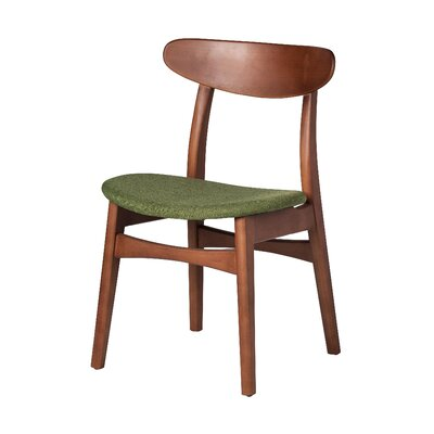 Dylan Upholstered Dining Chair Upholstery Color: Green