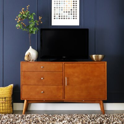 Nicolas 52 Mid-Century TV Stand Color: Acorn
