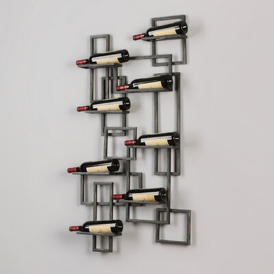 Humberto 8 Bottle Wall Mounted Wine Rack
