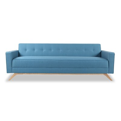Matt Mid-Century Modern Sofa Upholstery: Urban Surf Twill, Leg Color: Cream
