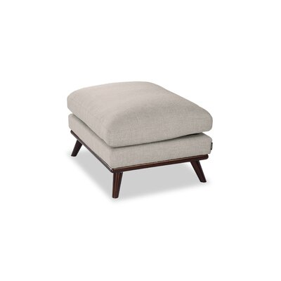 Luther Mid-Century Modern Ottoman Upholstery: Dove Gray Twill