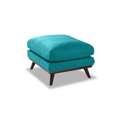 Luther Ottoman Upholstery: Turquoise Wool