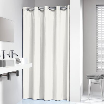 Jethro Solid Shower Curtain Color: White
