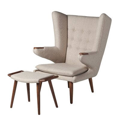 Johanna Papa Bear Lounge Chair and Ottoman