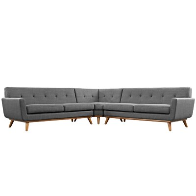 Johnston Sectional Upholstery: Gray