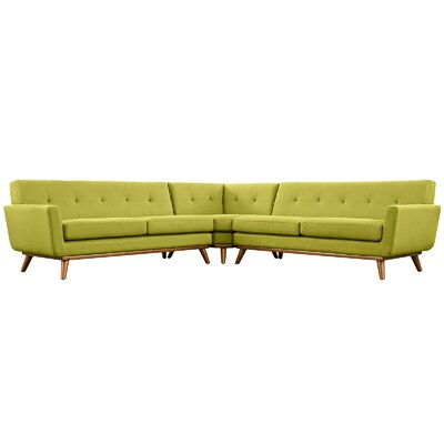 Johnston Sectional Upholstery: Wheat