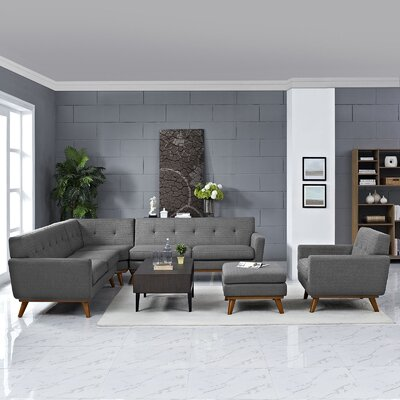 Saginaw 2 Piece Living Room Set Upholstery: Expectation Gray