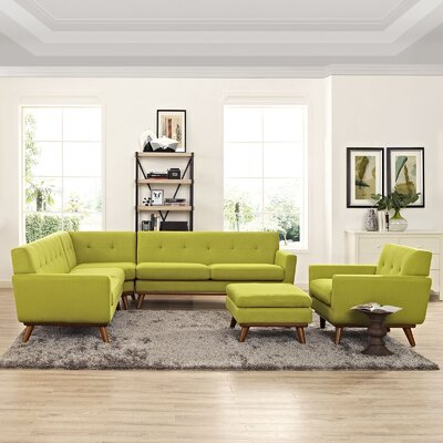 Saginaw 2 Piece Living Room Set Upholstery: Wheatgrass