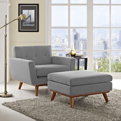 Johnston Armchair and Ottoman Upholstery: Expectation Gray