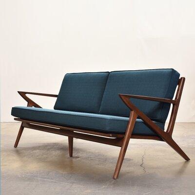 Gwendolyn Mid-Century Modern Sofa Upholstery: Azure