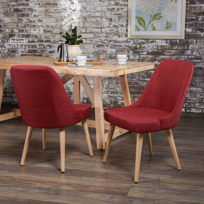 Kailyn Upholstered Dining Chair Upholstery Color: Red