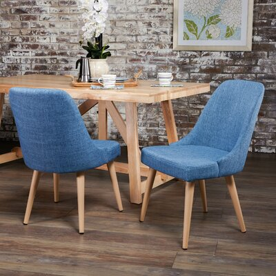 Kailyn Upholstered Dining Chair Upholstery Color: Blue