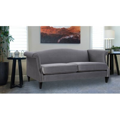 Clevenger Camel Back Sofa Upholstery: Opal Gray