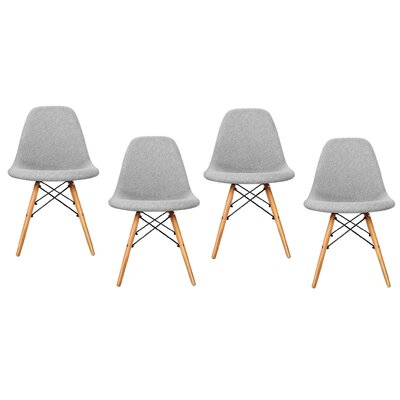 Aleena Solid Wood Dining Chair Finish: Gray