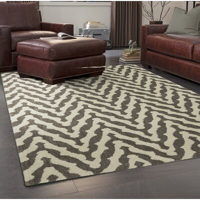Bonino North Point Gray/Beige Area Rug Rug Size: Rectangle 5 x 8