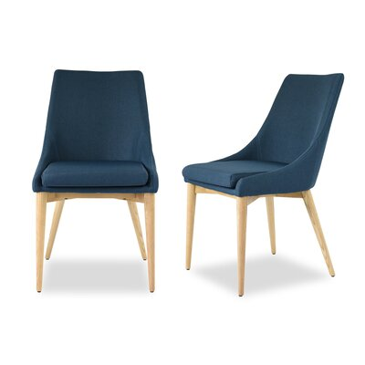 Quentin Upholstered Dining Chair Upholstery Color: Blue