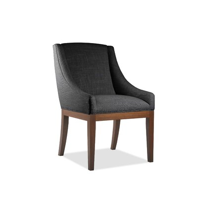 Moss Side Chair Upholstery: Charcoal, Finish: Cognac
