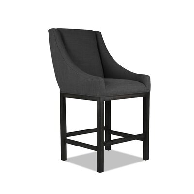 Moss 30 Bar Stool Upholstery: Charcoal