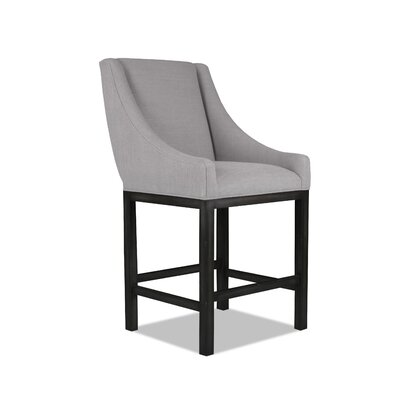 Moss 30 Bar Stool Upholstery: Grey