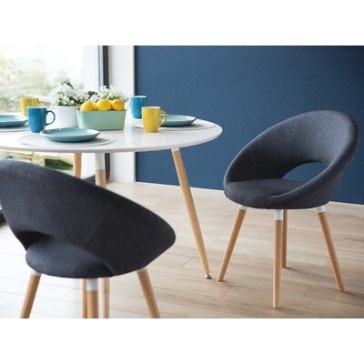 Claudia Upholstered Dining Chair Upholstery: Blue