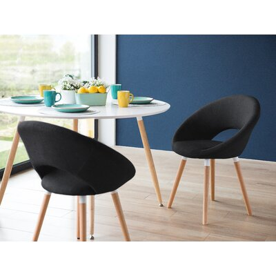Claudia Upholstered Dining Chair Upholstery: Black