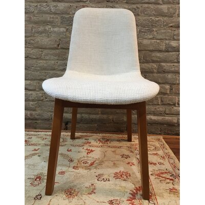 Ryann Mid-Century Upholstered Dining Chair Upholstery Color: Cream