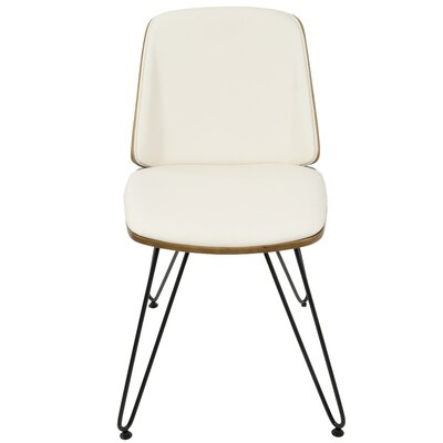Calline Creek Mid-Century Modern Upholstered Dining Chair Upholstery Color: Faux Leather Cream