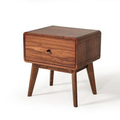 Tanya Mid-Century 1 Drawer Nightstand