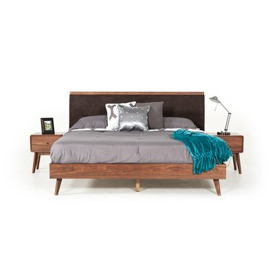 Tanya Mid-Century Upholstered Bed Size: Eastern King