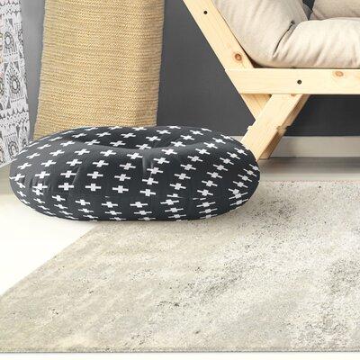 Emerie Cross Outdoor Floor Pillow Size: 26 x 26