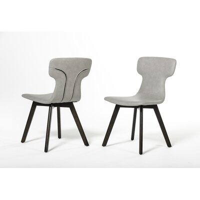 Petrolia Side Chair Upholstery: Grey