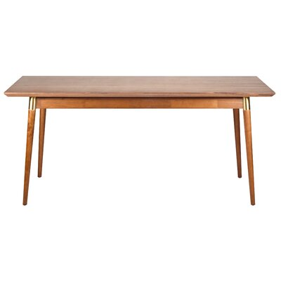 Sloan Dining Table Finish: Natural Walnut / Gold Tube