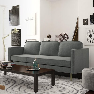Berrier Sofa Upholstery: Charcoal Gray