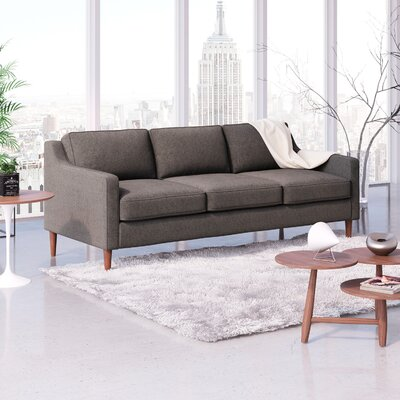 Oakley Sofa Upholstery: Charcoal Gray