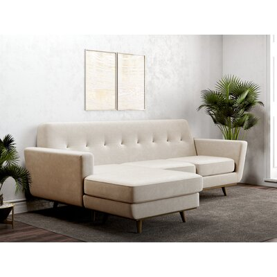 Giavanna Reversible Sectional Upholstery: Oatmeal