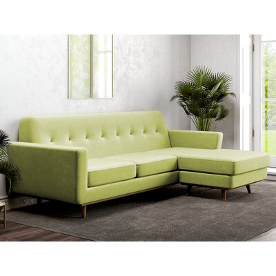 Giavanna Reversible Sectional Upholstery: Wheatgrass Green