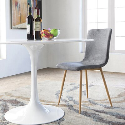 Amir Upholstered Dining Chair Leg Color: Natural