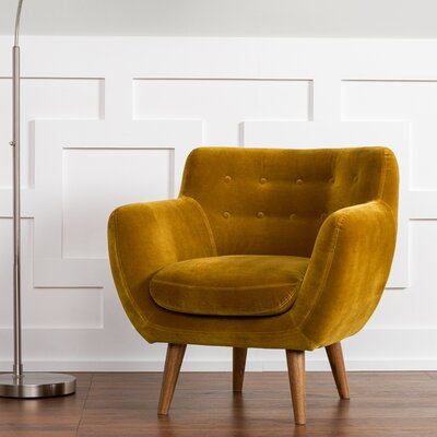 Martinique Armchair Upholstery: Mustard
