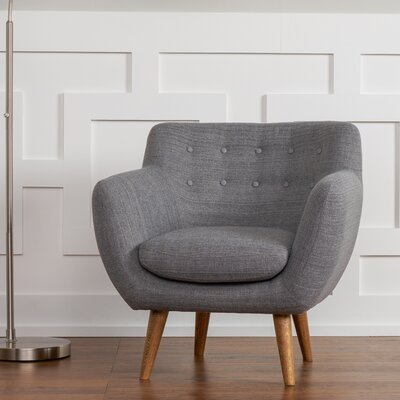Martinique Armchair Upholstery: Steel