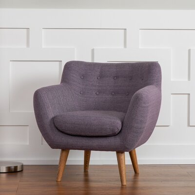 Martinique Armchair Upholstery: Purple