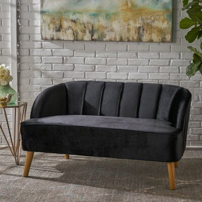 Snowhill Settee Upholstery: Black
