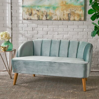 Snowhill Settee Upholstery: Blue