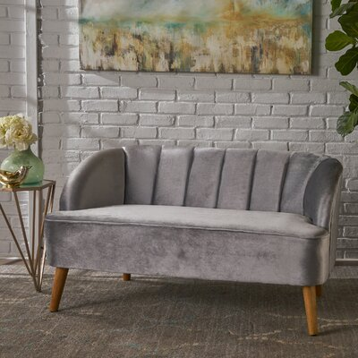 Snowhill Settee Upholstery: Pewter