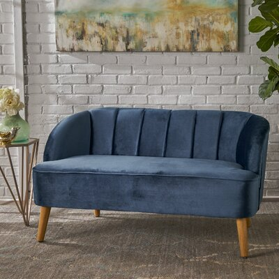Snowhill Settee Upholstery: Cobalt